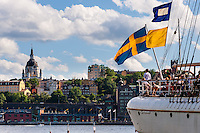 Sweden, Stockholm. The af Chapman, a full-rigged steel ship.