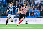 Stockholm 2014-08-31 Fotboll Allsvenskan Djurg&aring;rdens IF - Malm&ouml; FF :  <br /> Malm&ouml;s Markus Rosenberg i kamp om bollen med Djurg&aring;rdens Simon Tibbling <br /> (Foto: Kenta J&ouml;nsson) Nyckelord:  Djurg&aring;rden DIF Tele2 Arena Malm&ouml; MFF