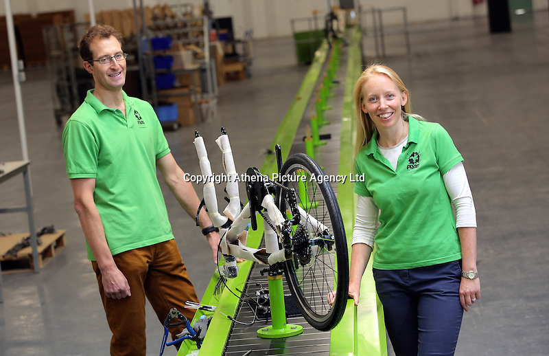 Pictured: Owners Jerry and Shelley Lawson Monday 15 August 2016<br />Re: Frog Bikes in Mamhilad Estate Park in Pontypool, Wales, UK