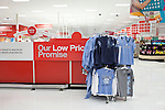 August 20, 2011. Chapel Hill, NC.. In the local Super Target, university merchandise was on display before buses hired by the company would start shuttling students from campus to the store on move in day.. Many companies have increased their efforts to reach the youth market by employing popular college students to raise the awareness of the brand by peer to peer marketing on campus' around the country.