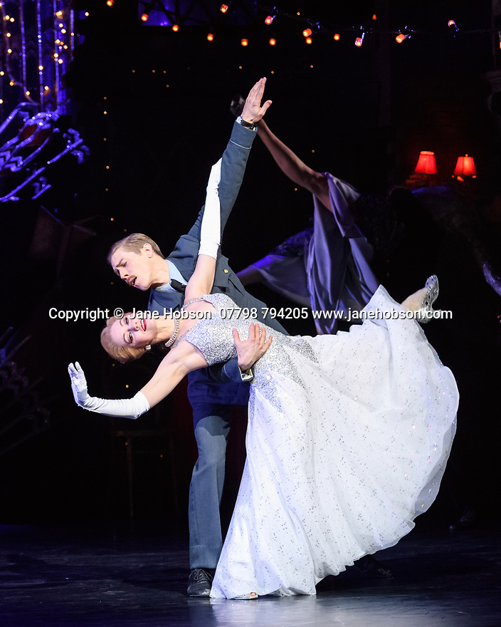 London, UK. 15.12.2017. Matthew Bourne's CINDERELLA returns to Sadler's Wells and runs until January 27th 2018. Picture shows: Ashley Shaw (Cinderella), Andrew Monaghan (Harry, the Pilot). Photograph © Jane Hobson.