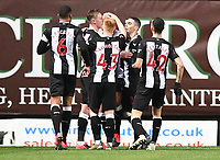 4th February 2020; Kassam Stadium, Oxford, Oxfordshire, England; English FA Cup Football; Oxford United versus Newcastle United; Joelinton Apolinario de Lira of Newcastle celebrates with his team after scoring in the 24th minute 0-2