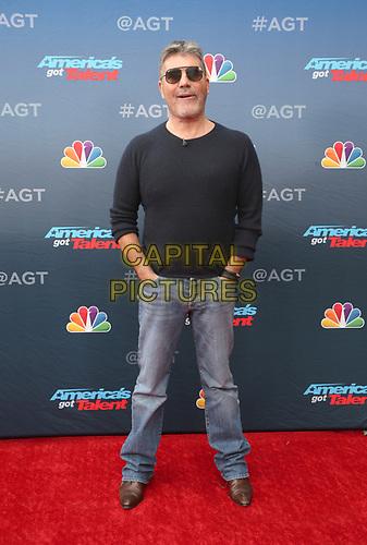 "11 March 2019 - Pasadena, California - Simon Cowell. NBC's ""America's Got Talent"" Season 14 Kick-Off held at Pasadena Civic Auditorium. <br /> CAP/ADM/FS<br /> ©FS/ADM/Capital Pictures"