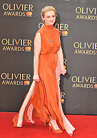 Anne-Marie Duff at the Olivier Awards 2018, Royal Albert Hall, Kensington Gore, London, England, UK, on Sunday 08 April 2018.<br /> CAP/CAN<br /> &copy;CAN/Capital Pictures<br /> CAP/CAN<br /> &copy;CAN/Capital Pictures