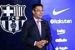 Presentation of Paulinho Bezerra as new player of the FC Barcelona.<br /> Josep M. Bartomeu.