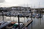 Boats moorings marina Watchet, Somerset, England