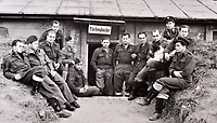 BNPS.co.uk (01202 558833)<br />Pic: C&T/BNPS<br /><br />Squadron relax in a captured German position.<br /> <br /> A fascinating photo album has sold for £1200 at auction - the previously unseen photographs chart the wartime career of Polish aristocrat Antoni Lipkowski -revealing how the emigree from Nazi Europe became a fighter pilot in the RAF.<br /> <br /> Flight Lieutenant Antoni Lipkowski escaped Poland when Germany invaded in 1939 and was desperate to join in the fight against the Nazis.<br /> <br /> Previously a cavalry officer, he retrained as a pilot and joined one of the Polish squadrons based in Britain which did such sterling work defending these skies in World War Two.<br /> <br /> Flt Lt Lipkowski, of 316 Polish Fighter Squadron, was very tall for a pilot and turned heads with his 'handsome' appearance.<br /> <br /> There are images of him in the cockpit of his Spitfire and posing nonchalantly in front of it with a cigarette in his hand.