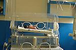 A 27-week premature baby in an incubator at Kibuye Hospital, Karongi District, Western Rwanda