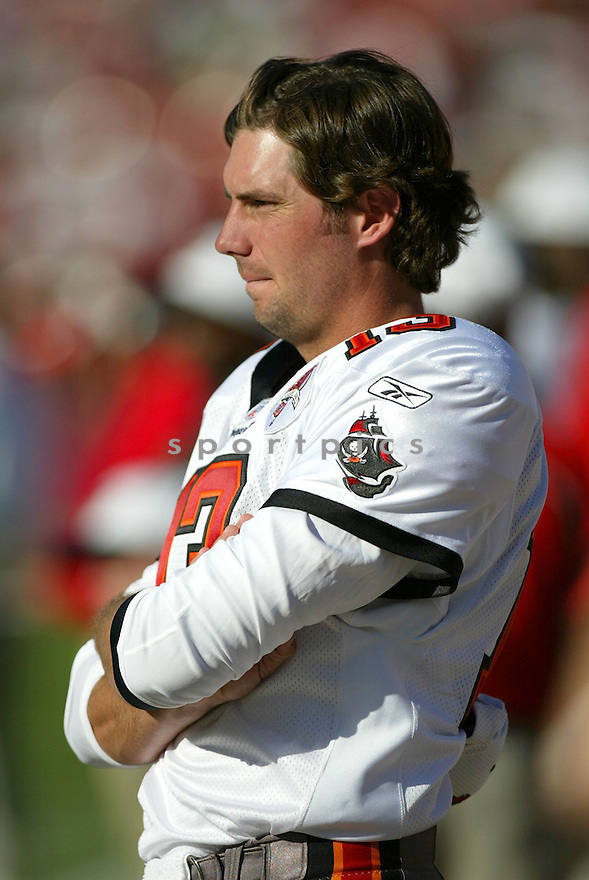 Tim Rattay, of the Tampa Bay Buccaneers , in action, during their game against the San Francisco 49ers on October 30, 2005...San Francisco wins 15-10..Rob Holt / SportPics