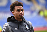 25th January 2020; Madejski Stadium, Reading, Berkshire, England; English FA Cup Football, Reading versus Cardiff City; Josh Murphy of Cardiff City inspects the pitch before kick off