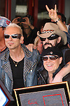 RUDOLF SCHENKER, LEMMY (Ian Fraser Kilmister), KLAUS MEINE. The Scorpions are inducted into Hollywood's RockWalk, dedicated to honoring artists who have made a significant impact on Rock 'n' Roll, Blues and R&B. Hollywood, CA, USA. April 6, 2010. .