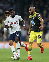 Nathan Redmond of Southampton and Serge Aurier of Tottenham Hotspur during Tottenham Hotspur vs Southampton, Emirates FA Cup Football at Tottenham Hotspur Stadium on 5th February 2020