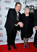 "LOS ANGELES, USA. November 21, 2019: Paul Walter Hauser & Barbara Bobi Jewell at the world premiere for ""Richard Jewell"" as part of the AFI Fest 2019 at the TCL Chinese Theatre.<br /> Picture: Paul Smith/Featureflash"