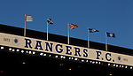 Flags flying high over the Govan Stand