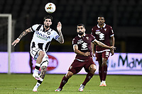 Rodrigo de Paul of Udinese Calcio and Tomas Rincon of Torino FC compete for the ball during the Serie A football match between Torino FC and Udinese at Olimpico stadium in Torino ( Italy ), June 23th, 2020. Play resumes behind closed doors following the outbreak of the coronavirus disease. <br /> Photo Image Sport / Insidefoto