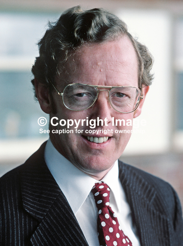 Rev Robert Bradford, MP, South Belfast, Ulster Unionist, Westminster, UK, 198010000331b.<br />