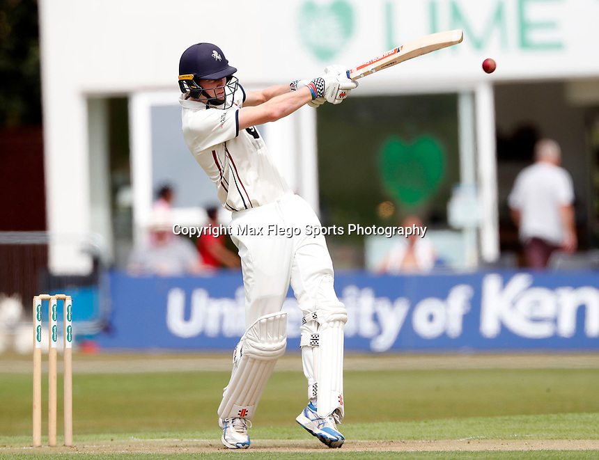 Zak Crawley bats for Kent during the County Championship Division 2 game between Kent and Leicestershire at the St Lawrence ground, Canterbury, on Sun July 22, 2018