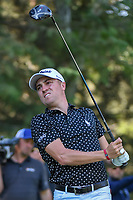Justin Thomas (USA) watches his tee shot on 8 during round 1 of the World Golf Championships, Mexico, Club De Golf Chapultepec, Mexico City, Mexico. 2/21/2019.<br /> Picture: Golffile | Ken Murray<br /> <br /> <br /> All photo usage must carry mandatory copyright credit (© Golffile | Ken Murray)