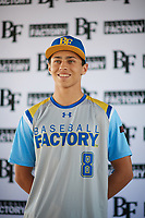 Ethan Durant (8) of Woodland Hills-Taft High School in Tarzana, California during the Baseball Factory All-America Pre-Season Tournament, powered by Under Armour, on January 12, 2018 at Sloan Park Complex in Mesa, Arizona.  (Zachary Lucy/Four Seam Images)
