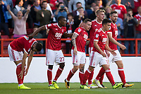 Barrie McKay of Nottingham Forest celebrates his goal during the Sky Bet Championship match between Nottingham Forest and Millwall at the City Ground, Nottingham, England on 4 August 2017. Photo by James Williamson / PRiME Media Images.
