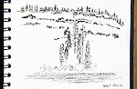 Grand Ronde River, ink on paper, Journal Art 2013,