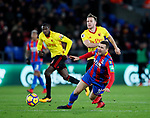 Crystal Palace's James McArthur gets fouled by Watford's Tom Cleverley during the premier league match at Selhurst Park Stadium, London. Picture date 12th December 2017. Picture credit should read: David Klein/Sportimage