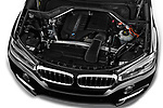 Car stock 2017 BMW X5 xDrive35d 5 Door SUV engine high angle detail view