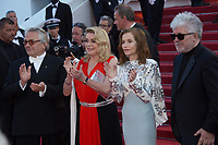 George Miller, Catherine Deneuve, Isabelle Huppert &amp; Pedro Almodovar at the 70th Anniversary Gala for the Festival de Cannes, Cannes, France. 23 May 2017<br /> Picture: Paul Smith/Featureflash/SilverHub 0208 004 5359 sales@silverhubmedia.com