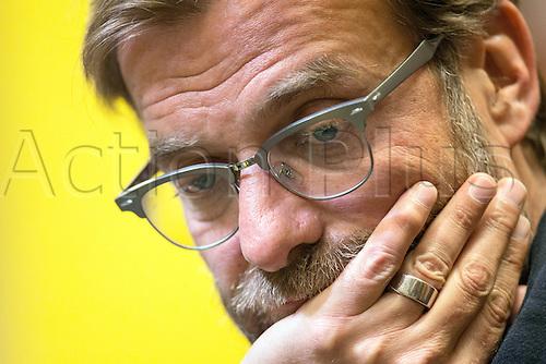 06.04.2016. Dortmund, Germany.  Liverpool's head coach Juergen Klopp attends a press conference at Signal Iduna Park in Dortmund, Germany. Liverpool will face Borussia Dortmund in an UEFA Europa League quarter final first leg soccer match on April 7th.