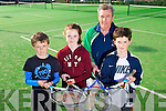 Peter, Ria and Tom Walsh with Coach Allen Ringland from Tralee Tennis Club are playing in the Junior open at Carrigaline GSK Junior Open 2014, This Easter Saturday