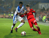 (L-R) Michael Amir Murillo of Panama challenges Ben Woodburn of Wales during the international friendly soccer match between Wales and Panama at Cardiff City Stadium, Cardiff, Wales, UK. Tuesday 14 November 2017.