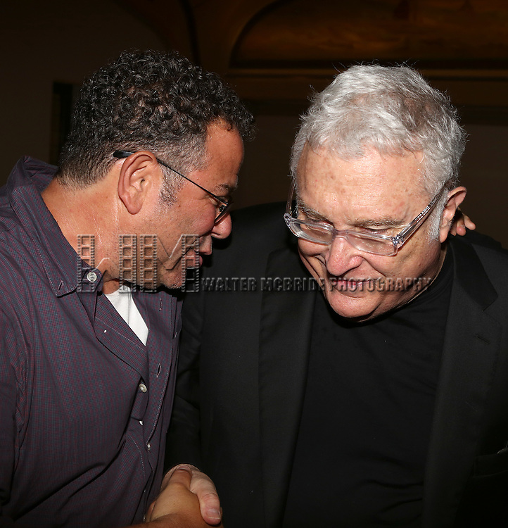 Michael Greif and Randy Newman attends the after performance party for the New York City Center Encores! Off-Center production of 'Randy Newman's FAUST' - The Concert at City Center on July 1, 2014 in New York City.