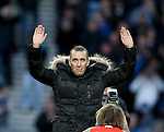 Fernando Ricksen acknowledges the applause from the Rangers fans at half-time