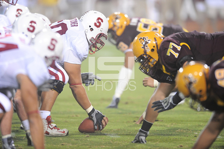 Tempe, AZ - SEPTEMBER 6:  Center Alex Fletcher #60 of the Stanford Cardinal during Stanford's 41-17 loss against the Arizona State Sun Devils on September 6, 2008 at Sun Devil Stadium in Tempe, Arizona.