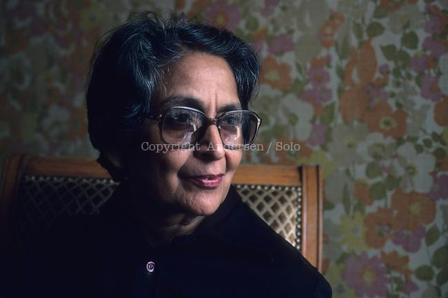 Amrita Pritam in Paris in 1983