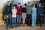 "Sergio Mur, Hugo Arbues, Raul Arevalo, Aura Garrido, director of the film Daniel Calparsoro, Belen Cuesta a producer attends to the presentation of the film ""El Aviso"" at URSO Hotel in Madrid , Spain. March 19, 2018. (ALTERPHOTOS/Borja B.Hojas)"