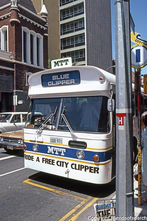 Perth: Free downtown bus. Photo '82.