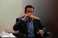 SÃO PAULO, SP, 19.02.2017 - LOGAN-COLETIVA - Hugh Jackman durante entrevista coletiva de lançamento do filme Logan, No Grand Hotel Hyatt, na tarde deste domingo, 19. (Foto: Adriana Spaca/Brazil Photo Press)