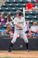 John Murphy (3) of the Charleston RiverDogs at bat against the Hickory Crawdads at L.P. Frans Stadium on May 25, 2014 in Hickory, North Carolina.  The RiverDogs defeated the Crawdads 17-10.  (Brian Westerholt/Four Seam Images)