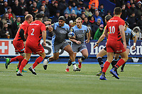 Nick Williams of Cardiff Blues in action during the Heineken Champions Cup match between Cardiff Blues and Saracens at Cardiff Arms Park in Cardiff, Wales. Saturday 15 December 2018