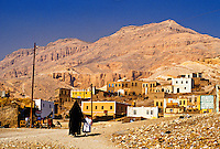 Village in Theban Hills, west bank of the Nile River, near Luxor, Egypt