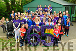 Super Heros Fun Run/Walk: Participants who took part in the Super Heros Fun/Run/Walk in aid Tipperary, Limerick & Clare Cystic Fibrosis pictured prior to starting in the Listowel Town Park on Sunday afternoon last led by CF suffer Evan Foley with his dad Tom and twin brother Alex from Lixnaw.