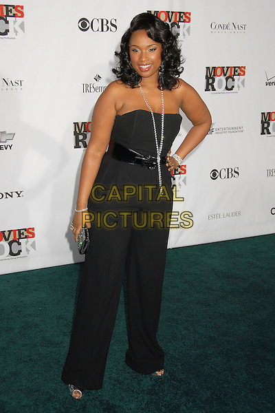 JENNIFER HUDSON.2007 Movies Rock Celebration Presented by Conde Nast Media Group at the Kodak Theatre, Hollywood, California USA, 2 December 2007..full length black strapless top trousers hand on hip.CAP/ADM/BP.©Byron Purvis/AdMedia/Capital Pictures.