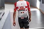 European Time Trial Champion Victor Campenaerts (BEL) is the new UCI Hour Record holder after covering 55,089 km, beating Bradley Wiggins record by 563 metres. Victor wearing a Vermarc skinsuit. Aguascalientes, Mexico. 16th April 2019.<br /> Picture: Ridley Bikes | Cyclefile<br /> <br /> All photos usage must carry mandatory copyright credit (&copy; Cyclefile | Ridley Bikes)