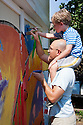Tomato Art Fest Kick-Off Mural Project in East Nashville. View more mural images at: http://bit.ly/Mr2mih