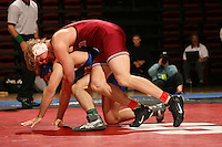 26 February 2006: Stanford's Luke Feist during the Pac-10 Wrestling Championships at Maples Pavilion in Stanford, CA.