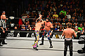 CORAL GABLES, FLORIDA - JANUARY 15: The Young Bucks vs. Santana & Ortiz vs. Kenny Omega & Adam Page vs. Best Friends performs at the AEW Present Dynamite Bash At The Beach at Watsco Center at the University of Miami in Coral Gables, Florida on January 15, 2020 in Miami, Florida. ( Photo by Johnny Louis / jlnphotography.com )