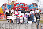 PROTEST: Protesting against the treatment of animals at Courtney Brothers Circus at Rathass, Tralee on Friday front l-r: Jessica Hamilton, Samantha O'Hara-Smith and Sharon and Caroline Fitzgerald. Back l-r: Eileen Touhy, Karen O'Hara-Smith, Hazel Keane, Martin McLoughlin, Jacinta O'Neill, Mary Allen,..Clementine O'Brien and Mary Touhy.