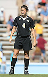 14 October 2007: Wake Forest's Jill Hutchinson. The University of North Carolina Tar Heels defeated the Wake Forest University Demon Deacons 1-0 at Fetzer Field in Chapel Hill, North Carolina in an Atlantic Coast Conference NCAA Division I Womens Soccer game.