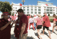NWA Democrat-Gazette/CHARLIE KAIJO Razorback fans file into the stadium before a football game against North Texas Mean Green, Saturyday, September 15, 2018 at Donald W. Reynolds Razorback Stadium in Fayetteville.